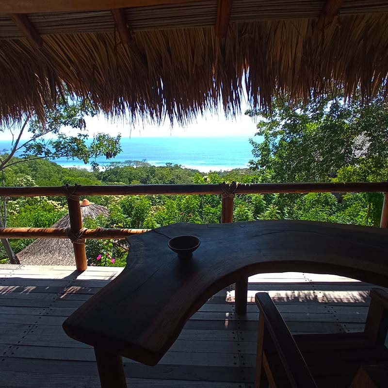 The panoramic sea view from the Gecko Suite in Mazunte
