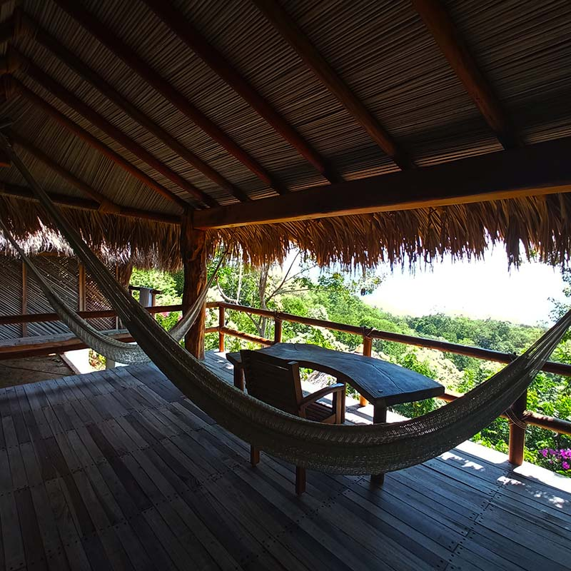 Gecko room with terrace with hammocks