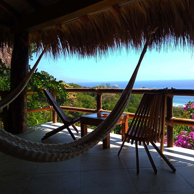 The awesome ocean view from the Jaguar Suite's hammock