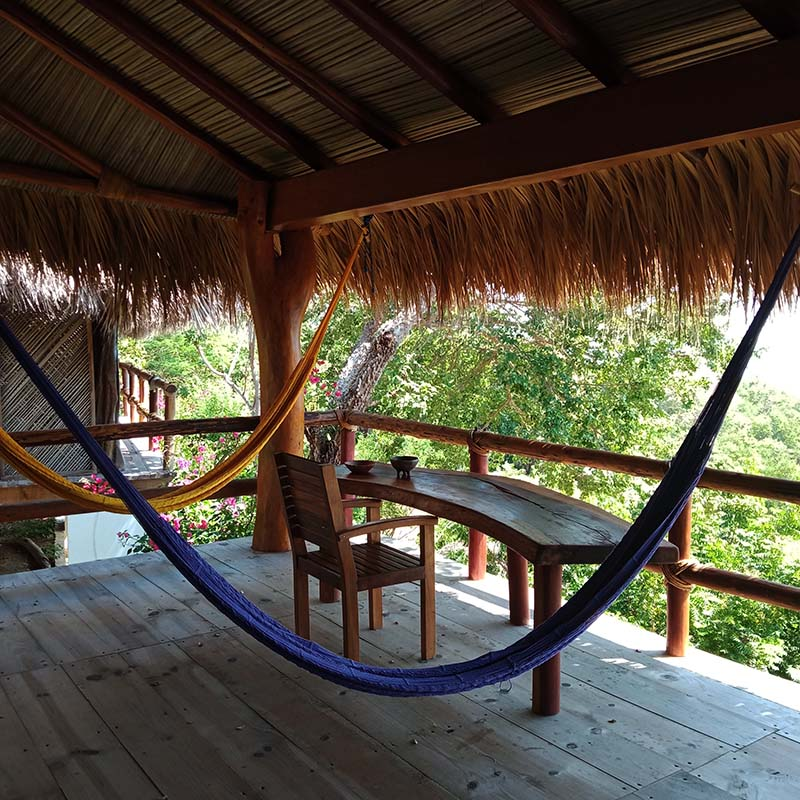 Suite Virgo also has a big terrace with hammocks for a soul healing experience