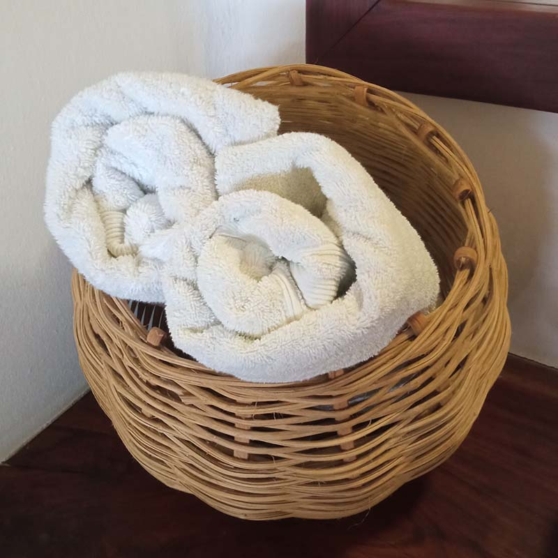 Free towels and beach towels are included in all accomodation rates