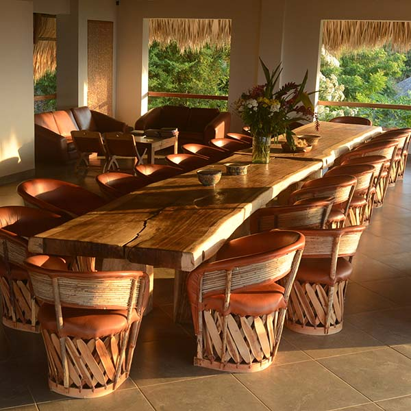 Our dining table for your yoga class