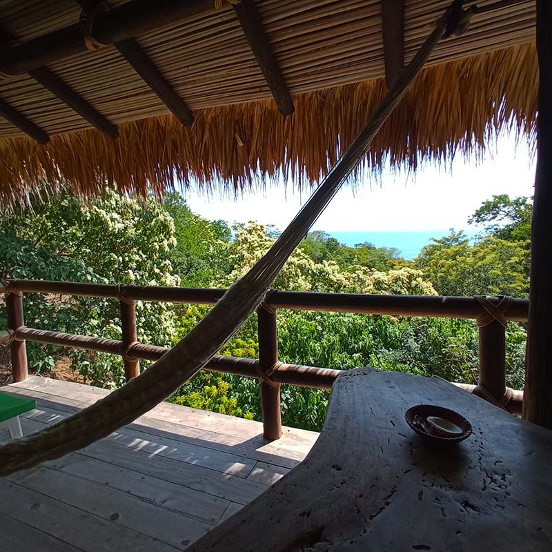 The spectacular panoramic sea view from our Iguana Bungalow