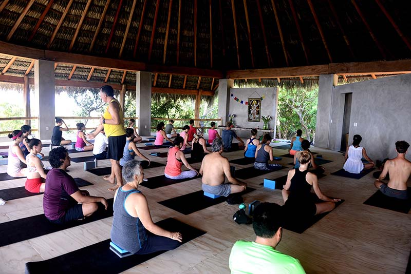Our Yoga studio offers space for big groups, too