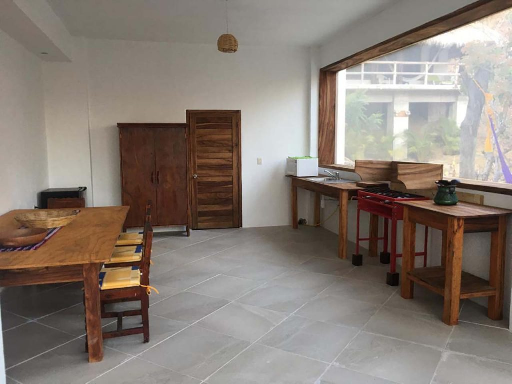 Our guest kitchen at Zazil Retreat